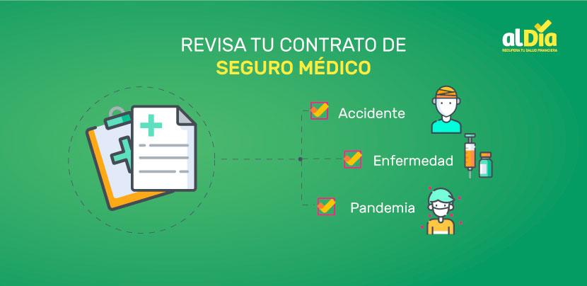 revisa tu contrato de seguro medico.