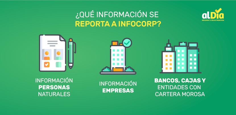 que información se reporta en infocorp