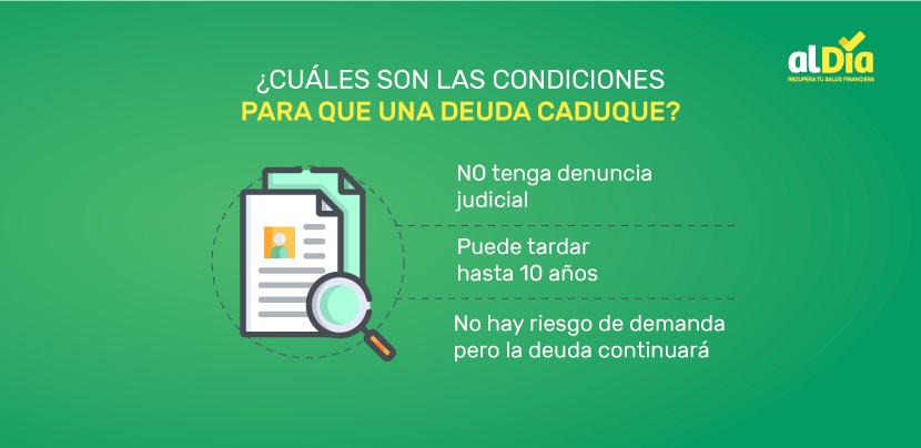 condiciones para que una deuda caduque