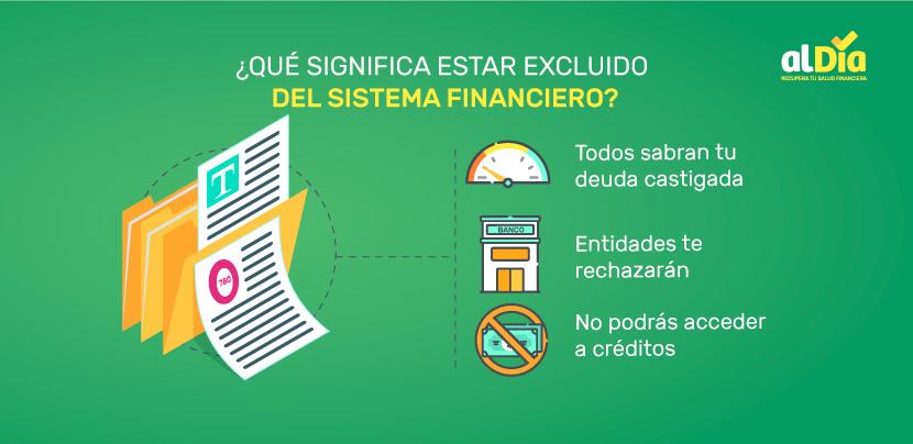 qué significa estar excluido del sistema financiero