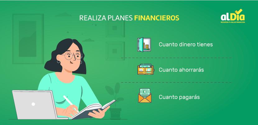 realiza planes financieros