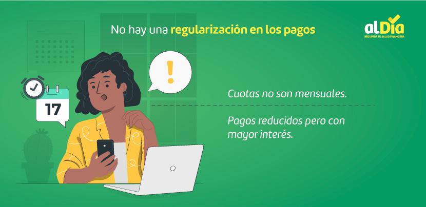 regularización en los pagos
