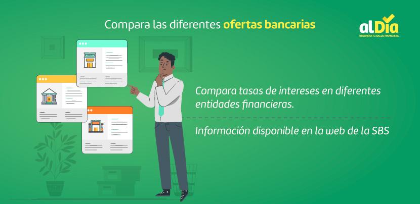 compara diferentes ofertas bancarias