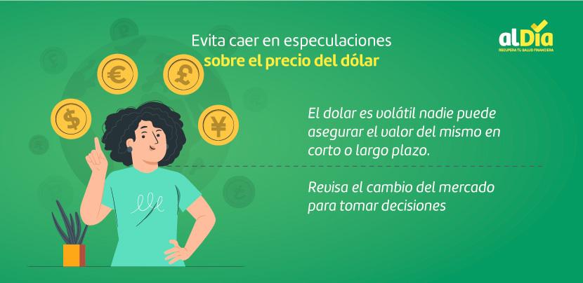especulaciones sobre el precio del dólar