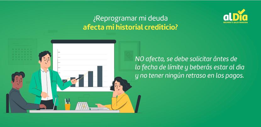 reprogramar afecta mi historial crediticio